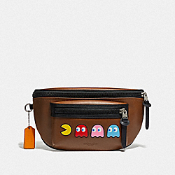 COACH F72922 - TERRAIN BELT BAG WITH PAC-MAN MOTIF SADDLE/BLACK ANTIQUE NICKEL