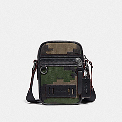 TERRAIN CROSSBODY WITH PIXELATED CAMO PRINT - F72927 - DARK GREEN MULTI/BLACK ANTIQUE NICKEL