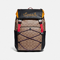 COACH F72932 - TERRAIN BACKPACK IN SIGNATURE CANVAS TAN/BLACK ANTIQUE NICKEL