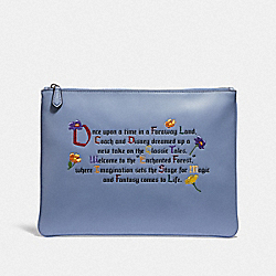 COACH F72933 Disney X Coach Large Wristlet 30 With Enchanted Forest Once Upon A Time Print MULTI