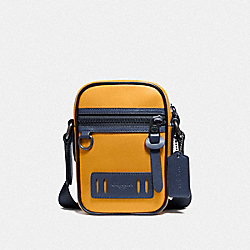 TERRIAN CROSSBODY IN COLORBLOCK - F72940 - MARIGOLD/BLACK ANTIQUE NICKEL