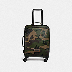 WHEELED CARRY ON WITH CAMO PRINT - F72943 - DARK GREE/MULTI