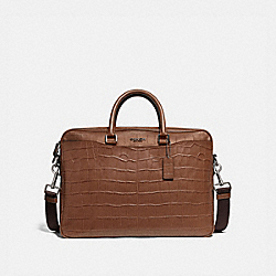 COACH F72980 Beckett Slim Brief SADDLE