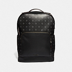 COACH F73014 Graham Backpack With Diamond Foulard Print BLACK/MULTI