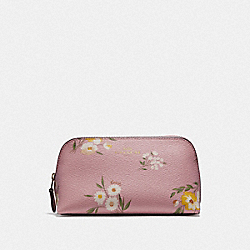 COACH F73019 Cosmetic Case 17 With Tossed Daisy Print CARNATION/IMITATION GOLD