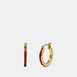 HUGGIE EARRINGS - F73021 - STRAWBERRY/GOLD