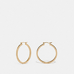 COACH F73022 Hoop Earrings GOLD