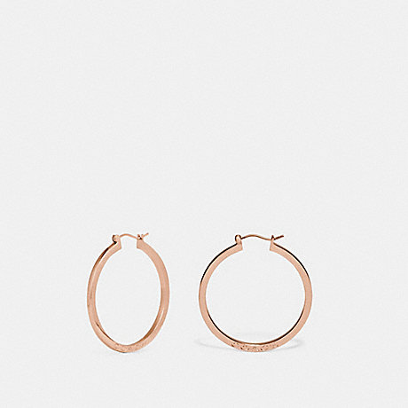 COACH F73022 HOOP EARRINGS ROSEGOLD
