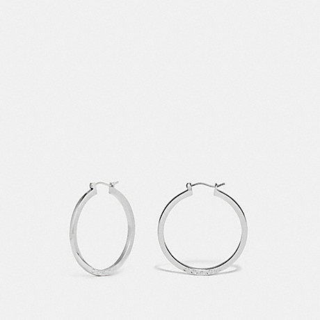 COACH F73022 HOOP EARRINGS SILVER