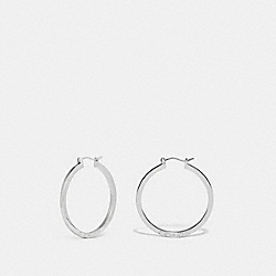 COACH F73022 - HOOP EARRINGS SILVER