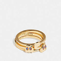 PAC-MAN RING SET - F73026 - MULTI/GOLD