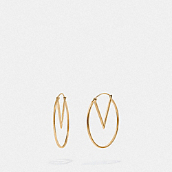 COACH F73027 - PAC-MAN HOOP EARRINGS GOLD
