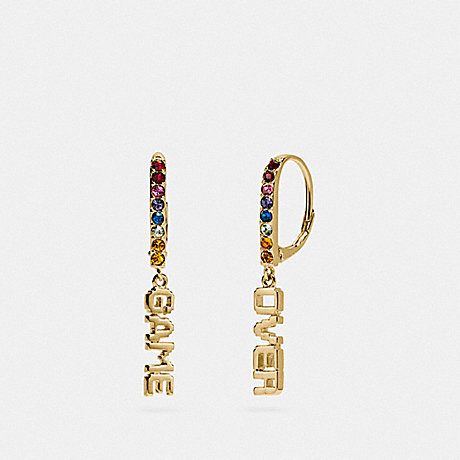 COACH F73028 PAC-MAN GAME OVER EARRINGS MULTI/GOLD