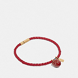 STRAWBERRY CORDED BRACELET - F73032 - RED/MULTI
