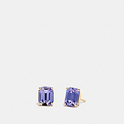 COACH F73036 Emerald Cut Stud Earrings PURPLE/GOLD