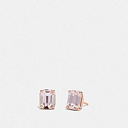 COACH F73036 - EMERALD CUT STUD EARRINGS PINK/ROSEGOLD