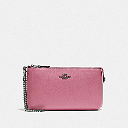 COACH F73044 - LARGE WRISTLET QB/PINK ROSE