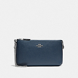 LARGE WRISTLET - F73044 - DENIM/SILVER