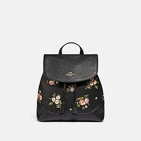 Coach F73054 Elle Backpack With Tossed Daisy Print