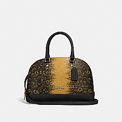 MINI SIERRA SATCHEL - F73059 - MUSTARD/GOLD