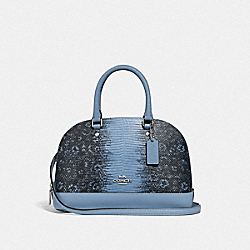 MINI SIERRA SATCHEL - F73059 - CORNFLOWER/SILVER