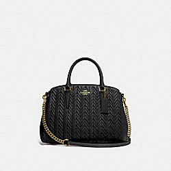 COACH F73062 Sage Carryall With Quilting BLACK/IMITATION GOLD