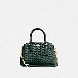 COACH F73063 - MINI SAGE CARRYALL WITH QUILTING IM/EVERGREEN