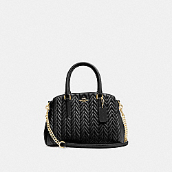 COACH F73063 Mini Sage Carryall With Quilting BLACK/IMITATION GOLD