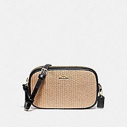 CROSSBODY POUCH - F73070 - NATURAL BLACK/GOLD