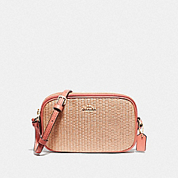 CROSSBODY POUCH - F73070 - NATURAL LIGHT CORAL/GOLD