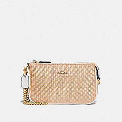 COACH F73071 Large Wristlet 19 NATURAL CHALK/GOLD