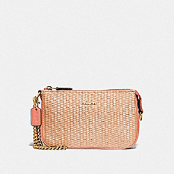 COACH F73071 Large Wristlet 19 NATURAL LIGHT CORAL/GOLD