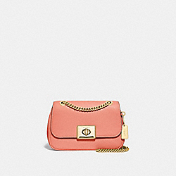 MINI CASSIDY CROSSBODY - F73089 - LIGHT CORAL/GOLD