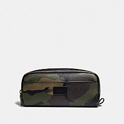 COACH F73092 - DOPP KIT WITH CAMO PRINT DARK GREE/MULTI