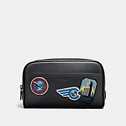 COACH F73093 - OVERNIGHT TRAVEL KIT WITH TRAVEL PATCHES MIDNIGHT NAVY/MULTI