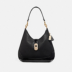 COACH F73095 Amber Hobo BLACK/GOLD
