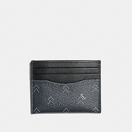 COACH F73101 SLIM ID CARD CASE WITH DOT ARROW PRINT NAVY/MULTI