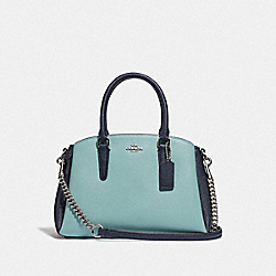 COACH F73115 - MINI SAGE CARRYALL IN COLORBLOCK SEAFOAM/MULTI/SILVER