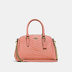 COACH F73126 - MINI SAGE CARRYALL LIGHT CORAL/GOLD
