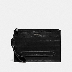 COACH F73151 Structured Pouch BLACK