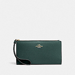 COACH F73156 - LONG WALLET IM/EVERGREEN
