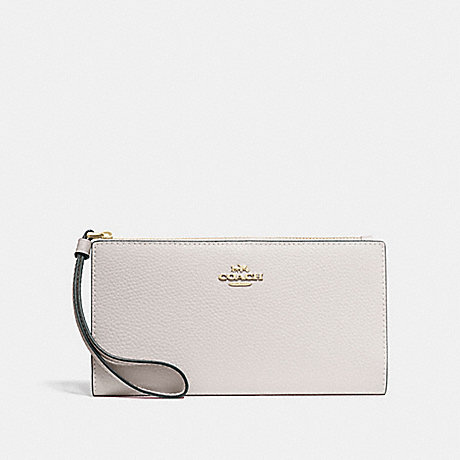 COACH F73156 LONG WALLET CHALK/IMITATION-GOLD