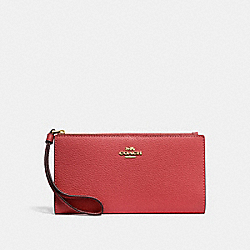 COACH F73156 - LONG WALLET WASHED RED/GOLD
