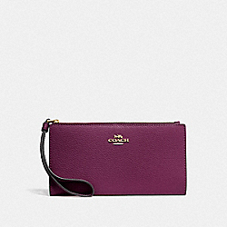 COACH F73156 - LONG WALLET IM/DARK BERRY