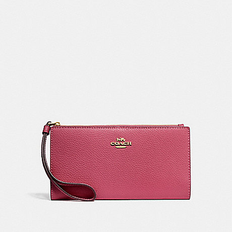 COACH F73156 LONG WALLET ROUGE/GOLD
