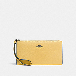 COACH F73156 Long Wallet SUNFLOWER