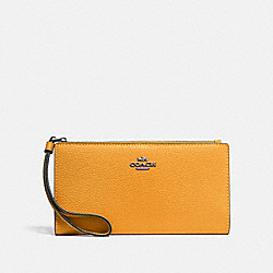 COACH F73156 - LONG WALLET QB/YELLOW
