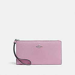 COACH F73156 Long Wallet LILAC/SILVER