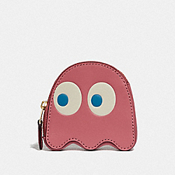 COACH F73165 - PAC-MAN GHOST COIN CASE PEONY/GOLD