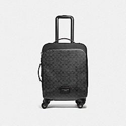 WHEELED CARRY ON IN SIGNATURE CANVAS - F73169 - BLACK/OXBLOOD
